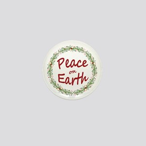 Christmas Peace on Earth Wreath Mini Button