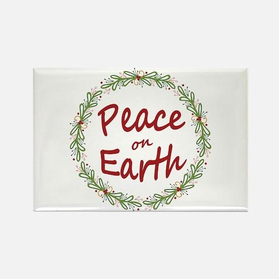 Christmas Peace on Earth Wreath Magnets