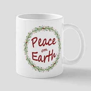Christmas Peace on Earth Wreath Mugs