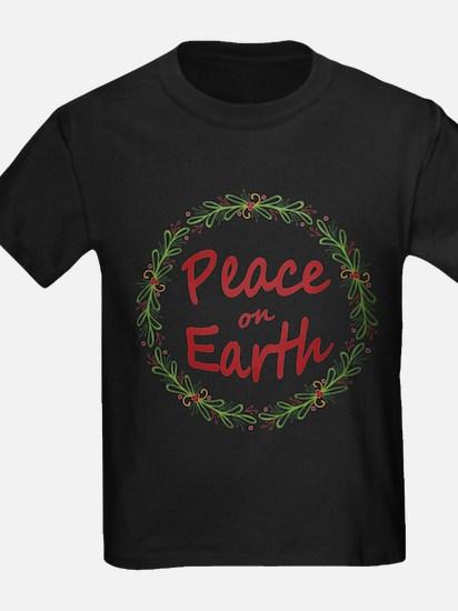 Christmas Peace on Earth Wreath T-Shirt