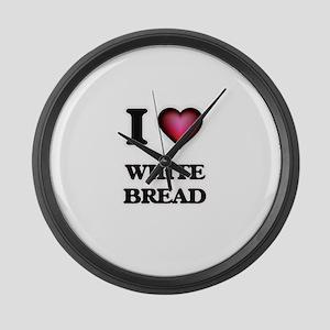 I love White Bread Large Wall Clock