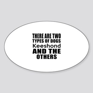 There Are Two Types Of Keeshond Dog Sticker (Oval)