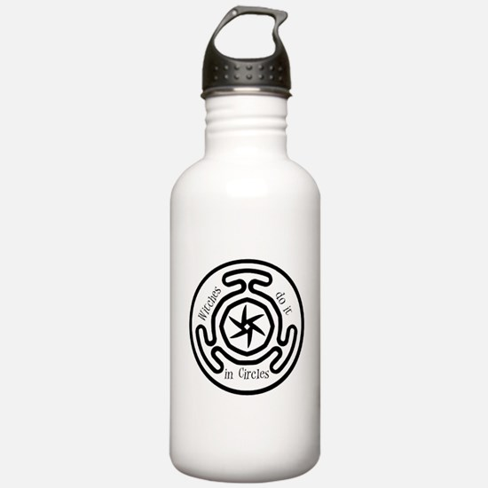 Witches do it in circles Water Bottle