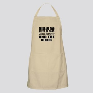 There Are Two Types Of Golden Retriever Dogs Apron