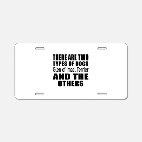 There Are Two Types Of Glen Aluminum License Plate
