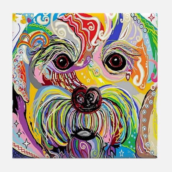 Cool Abstract animal Tile Coaster