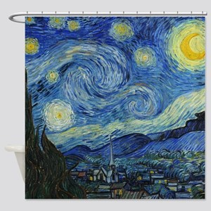 The Starry Night by Van Gogh Shower Curtain