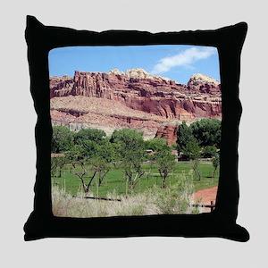 Fruita, Capitol Reef National Park, U Throw Pillow