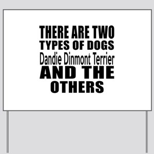 There Are Two Types Of Dandie Dinmont Te Yard Sign