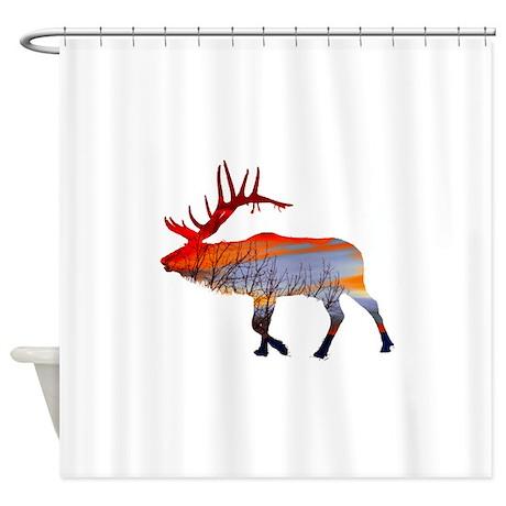 Sunset Elk Shower Curtain By SaltyproDesignshop