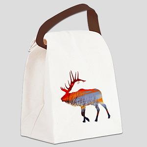 Sunset elk Canvas Lunch Bag