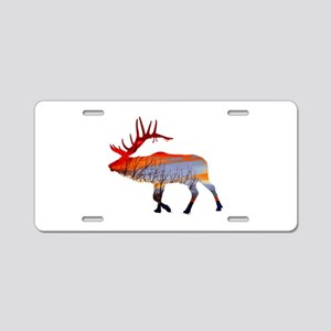 Sunset elk Aluminum License Plate