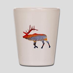 Sunset elk Shot Glass