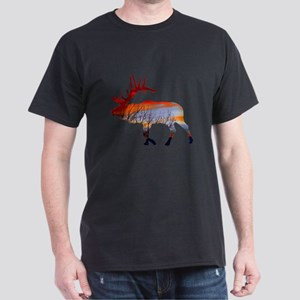 Sunset elk Dark T-Shirt
