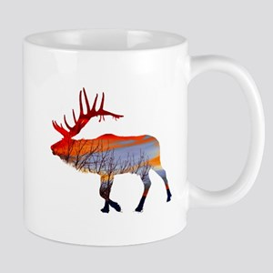 Sunset elk Mug