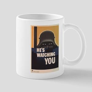 WWII He's Watching You Mugs