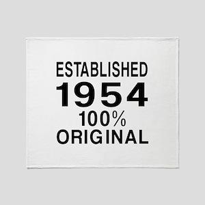 Established In 1954 Throw Blanket