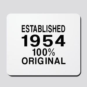 Established In 1954 Mousepad