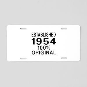 Established In 1954 Aluminum License Plate