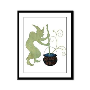 Kitchen Witch Framed Panel Print