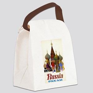 Travel To Russia Canvas Lunch Bag