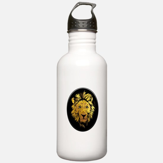 Golden Lion with Sapph Water Bottle
