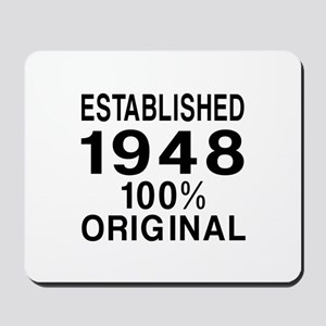 Established In 1948 Mousepad
