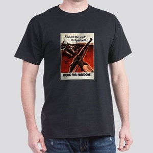 M1 Garand WWII Work For Freedom T-Shirt