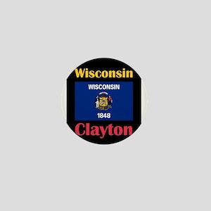 Clayton Wisconsin Mini Button