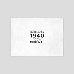 Established In 1940 5'x7'Area Rug