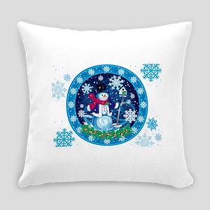 Wonderland Snowman Everyday Pillow