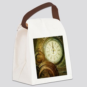 Steampunk, the clockswork Canvas Lunch Bag
