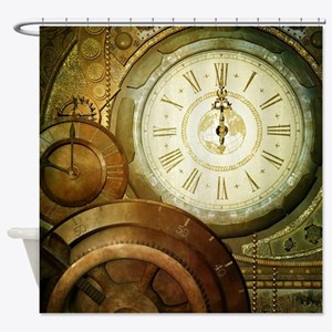 Steampunk, the clockswork Shower Curtain