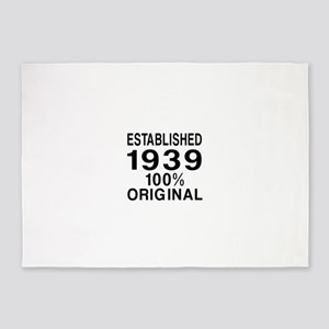 Established In 1939 5'x7'Area Rug