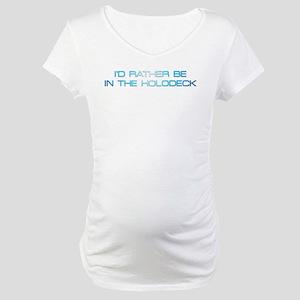 Treknerd TNG/Holodeck Maternity T-Shirt