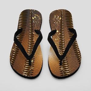 Wonderful decorative vintage design Flip Flops