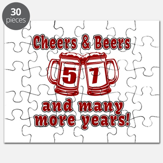 Cheers And Beers 57 And Many More Years Puzzle