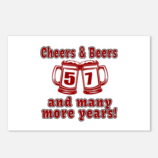 Cheers And Beers 57 And M Postcards (Package of 8)