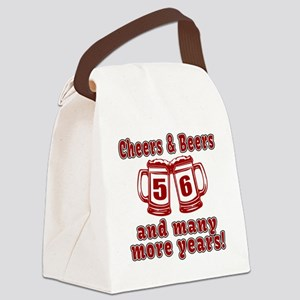 Cheers And Beers 56 And Many More Canvas Lunch Bag