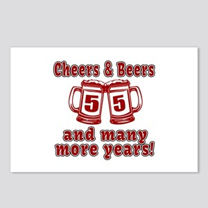 Cheers And Beers 55 And M Postcards (Package of 8)