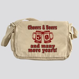 Cheers And Beers 50 And Many More Ye Messenger Bag