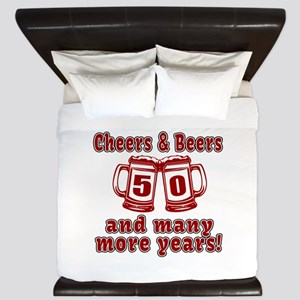 Cheers And Beers 50 And Many More Years King Duvet