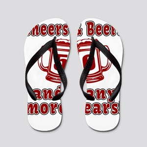 Cheers And Beers 50 And Many More Years Flip Flops
