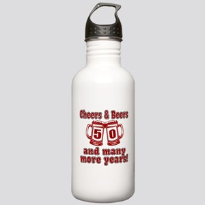 Cheers And Beers 50 An Stainless Water Bottle 1.0L