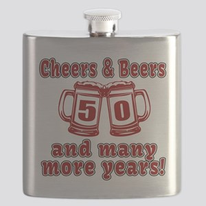 Cheers And Beers 50 And Many More Years Flask