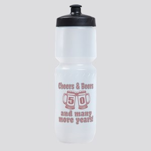Cheers And Beers 50 And Many More Ye Sports Bottle