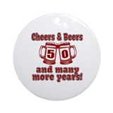 50th birthday Round Ornaments