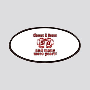 Cheers And Beers 50 And Many More Years Patch