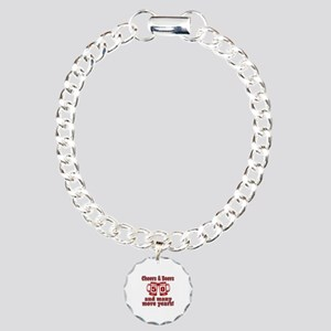 Cheers And Beers 50 And Charm Bracelet, One Charm
