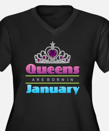 Queens are Born In January Plus Size T-Shirt